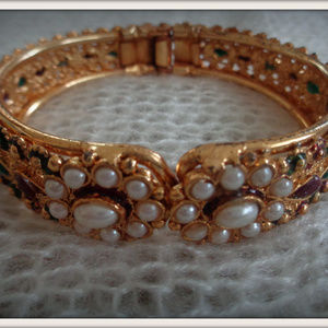 antique gold filled hand crafted  vintage bangle